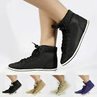 NEW WOMEN LADIES LACE UP TRAINERS FLAT ANKLE BOOTS SIZE 3 4 5 6 7 8