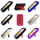 For HTC One X Heavy Duty Color Kickstand Hard Soft Covers Accessories Cases