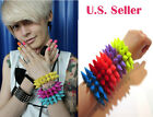 Punk Rock Urban Hot Topic Rave Large Double Spike Studs Candy Cuff Bracelet