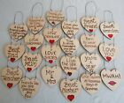 Shabby Chic Wooden Message Hearts/gift Tags/tokens Sentiments Hearts Occasions
