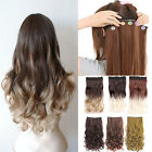 Long Straight/Curly/Wavy Hair Extension Clip in Hair Extensions Piece For Human