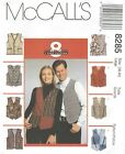McCall's 8285 Misses' and Men's Lined Vests   Sewing Pattern