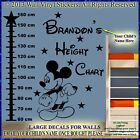 Mickey Mouse Wall Stickers Height Chart Personalised Kids Children Name Vinyl CM