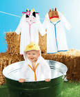 Mud Pie Barnyard White Chick Cow Horse Terry Robe Baby Girl Boy One Size