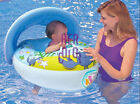 Inflatable Sunshade Baby Toddler Float Seat Boat Swim Pool Canopy Hot