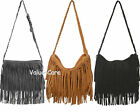 Fashion Celebrity Women Faux Suede Fringe Tassels Shoulder Bag Tote Punk Handbag