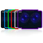 """USB 2 Big Fan Laptop Blue LED Cooling Cooler Pad Stand for 15"""" inch Notebook PC"""