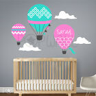 Hot Air Balloon Pattern Balloon with Custom Name Wall sticker Wall decal clouds