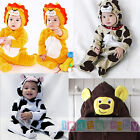 Baby Jumper Romper Animal Play suit Outfit Fancy Costume Lion Dog Cow Monkey