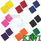 Hot Sale!! 10Pcs Cotton Sweat Band Sweatband Wristband Wrist Sport Tennis Unisex
