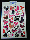 1 x LARGE SHEET GIRLS COLOURFUL SPOTTED HEARTS TEMPORARY TATTOOS 190mmx120mm UK