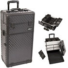 2 in 1 Interchangeable E-series Rolling Makeup Train Case 2 Wheels i3162 storage