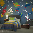 Rocket Ship wall decal, space, Boy, Star, Planets,Children, wall decals