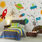 Space wall decal, Planets, Astronaut, Boy, Star, kids, Rocket Ship Wall decal