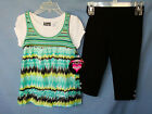 POGO CLUB  3 pc SET w/Short Sleeve Top, Knit Tank Dress & Legging GIRL SIZES NWT