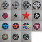 Celtic / Star Iron-on Embroidered Cloth Patch Badge Appliqué wiccan witch pagan
