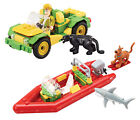 Scooby Doo Character Building Playset Jungle 4x4 or Speed boat NEW 2013