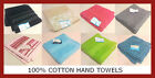 100% COTTON HAND TOWELS BEIGE, BLACK, GRAPHITE, LIME, PINK, TEAL, TURQUOISE