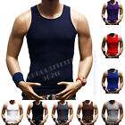 Big&Tall Mens 100% Cotton A-Shirt Top Quality Muscle Ribbed Wife Beater/Tank Top image