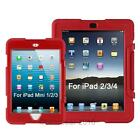 For iPad  2 3 4&mini 1 2 3 Shockproof Armor Military Duty Case Cover kids