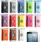 NEW For Apple iPad Mini 360 Degree Rotating PU Leather Case Cover w Swivel Stand