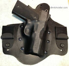 Left Hand draw IWB holster Kydex and leather LH Conceal Southpaw all model lefty