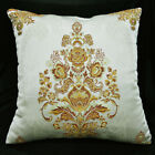 HC101a Pale Olive Gold threads Jacquard Cushion Cover/Pillow Case*Custom Size
