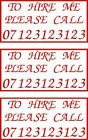 3x Hire Me Stickers, Catering Trailer Stickers/Ice Cream Van, Burger Van Decals