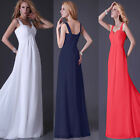 Floor-length Bridesmaid Chiffon Evening Party Dress Formal Dress Prom Ball Gowns