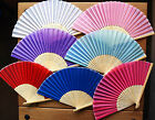"""1 Chinese Silky Plain Folding Hand Fan,Many Colours,Wedding, Party,20.5CM/8.2"""""""