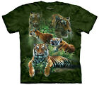 Jungle Tigers Adult  Animals Unisex T Shirt The Mountain