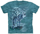 Wolf Tree Silhouette Adult  Animals Unisex T Shirt The Mountain