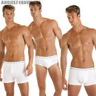 Mens Boxer Trunks Shorts Briefs 2 or 3 Pair Pack by Haigman Black White S M L XL