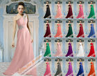 16 Colour Bridesmaid Prom Party Evening Cocktai Ball Long Wedding Gowns Dress