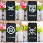 For iPhone 5 5S Superman Batman X-man Black Hard Rubber Back Skin Cover Case
