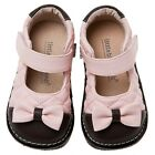 Little Blue Lamb Pink Bow Leather Squeaky Dress Shoes Toddler Girls 3 to 7 New