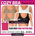 4 X COZY SPORTS BRA SEAMLESS SUPPORT VEST TOP IN PACK GIFT FOR HER BARGAIN