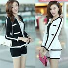 Womens Casual OL Long Sleeve Niblet Skinny Slim Blazer Jacket Coat Suits Tops