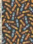 Elizabeth's Studio Parrot Party Surfboards Fabric Collection bty
