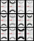 (PICK ANY) 25 Pairs RED CHERRY FALSE EYELASHES Fake Lashes Individual Black Lot