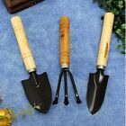 Wooden mini gardening hand tool set trowel shovel rake potted tree plant bonsai