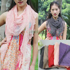 Stylish Embroidery Lace Floral Crochet Stitching Strip Triangle Scarf Shawl New