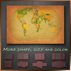 Vintage Political World Map Grunge Abstract Canvas Art Deco ~ More Size & Color