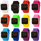 Watch LED Digital Mirror Stainless Steel  Various Colours FREE AIRMAIL TRACKING