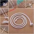 Hot Cool Men's Solid Silver Fashion Jewelry Charm Necklace Chain S925+ Gift Box