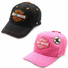 Child Size Harley Davidson Baseball Hat - Ball Cap Hat - Pink Children Harley