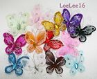 "2"" Organza Butterflies 20 PCS 100 PCS Craft Wedding Party Decoration Colors"