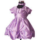 New Baby Christening Party Dress with Matching Headband,Bloomers&Bolero 0-2Years