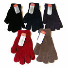 WOMENS LADIES COLOUR COLOURED LUXURY CHENILLE KNITTED WINTER STRETCH GLOVES NEW