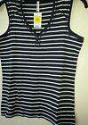 MARKS AND SPENCER PURE COTTON STRIPE VEST TOP BNWT SIZE 12 14 16